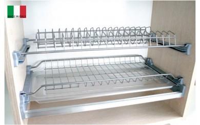 Поставка за чаши и чинии -  PVC тавичка, алуминиева рамка