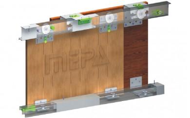 Комплект механизми за външни плъзгащи врати до 50 кг  SGM 03-1/GM 10-1