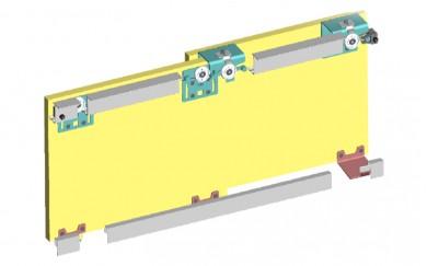 Комплект механизъм за външни плъзгащи врати до 60 кг    Y-028 К