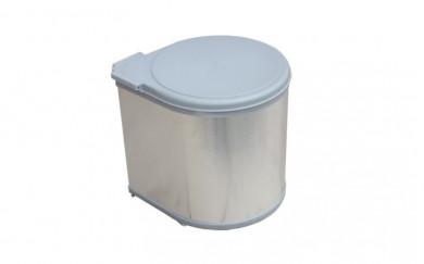 Кош за вграждане алуминий релеф +PVC  -  11 L.