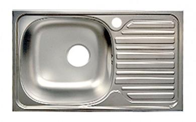 Мивка ANK_GK49х77 cm, 0.6 mm, голям сифон, 18 cm - корито