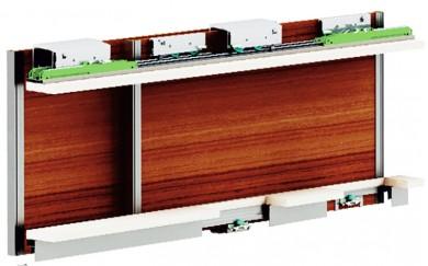 Механизми  за гардероб с плъзгащи врати до  90 кг