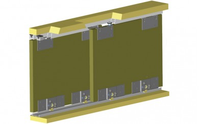 Механизъм за плъзгащи гардеробни врати  до 60 кг.   Y-006-1