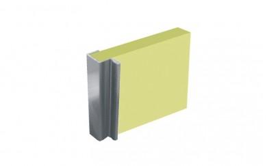 Алуминиева кант дръжка за гардеробна врата 18 mm.   D-4968