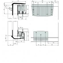 К -т мех. за външни плъзгащи врати до 80 кг с плавно затв. INAUX 4