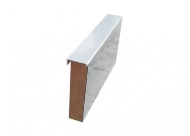 Кант чело 8/4 mm - мат хром