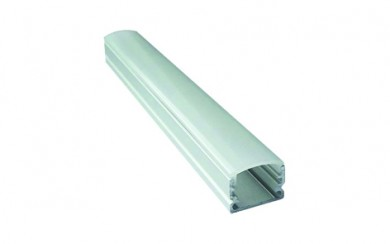 Алуминиев профил за LED лента - прав, външен монтаж , заоблен капак