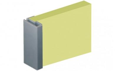 Алуминиева кант дръжка за гардеробна врата - 18 mm