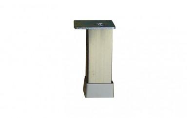 Крак 30х30, h=100  mm    гладък   инокс
