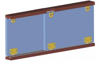 Механизъм за плъзгащи леки вратички до 15 кг.    Y-005H