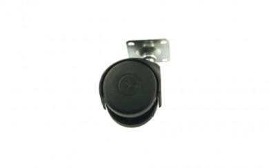 Колелце за мебели черно Ø50,  h=65mm