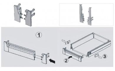 Метални скоби за челен панел