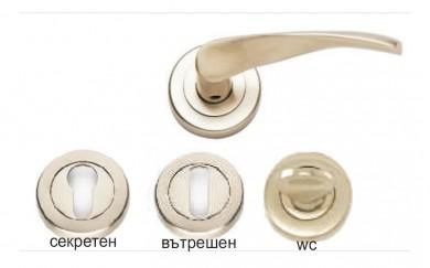 Дръжка - розетка за интериорна врата  SAFIR
