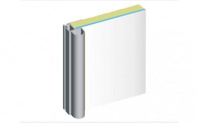 Алуминиева кант дръжка за гард. врата с огледало 18+4 mm