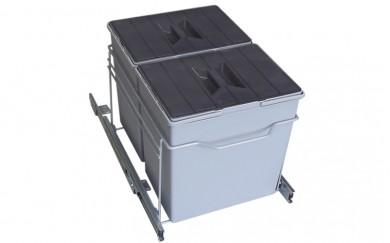 Кош за вграждане - PVC   20+20 L.      21910