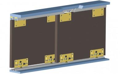 Механизъм за плъзгащи гардеробни врати  до 80 кг.   Y-006-2
