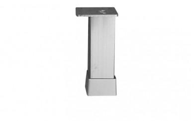 Крак 30х30, h=150  mm    гладък  мат хром